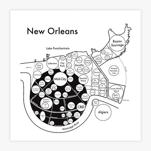 New Orleans Letterpress Print