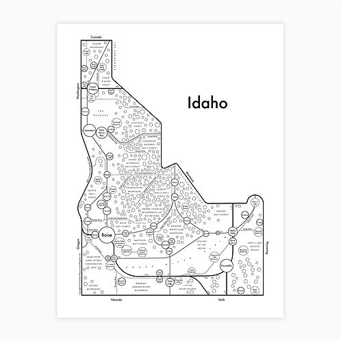 Idaho Letterpress Print