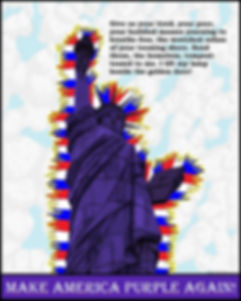 Liberty, freedom, statue of liberty, New York, New Jersey, imigrants, Make America Great Again, Make America Purple Again, Purple, t-shirts, art, photogaphy, products, shopping, bedding, home decor, mugs, phone cases, Redbubble, dresses, fashion, bags, accessories, stationary
