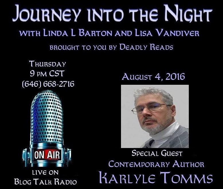 radio, podcast, blog, interview, novel, fiction, author, writer, writing, fiction, talk radio, talk, conversation, blog talk, promotion, broadcast, media, culture, pop culture, discussion, website, Speak, talk radio, discussion, network, books, characters, love,  Deadly Reads, Journey Into the Night