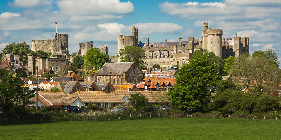 Two castles, Swanbourne Lake and delightful thatched houses -Arundel to Amberley