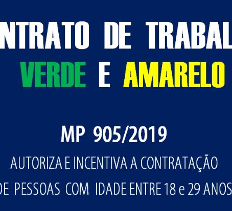 Medida Provisória nº 905/2019: governo institui o Contrato de Trabalho Verde e Amarelo