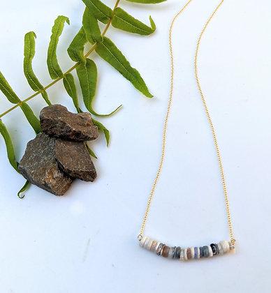 Ethiopian Opal Bar Necklace