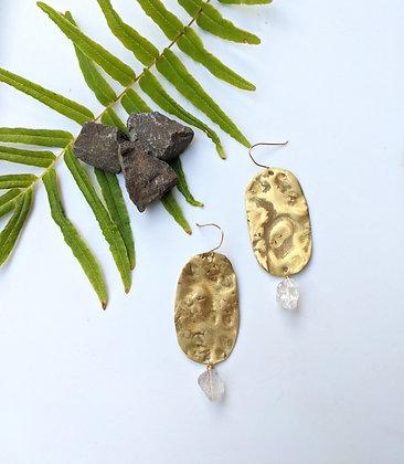 Boho Earrings with Herkimer Diamonds