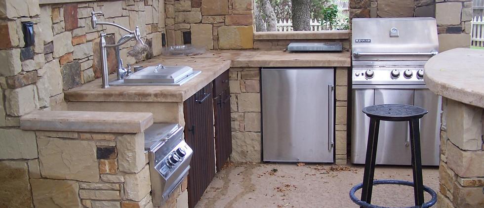 Sand stone Outdoor kitchen