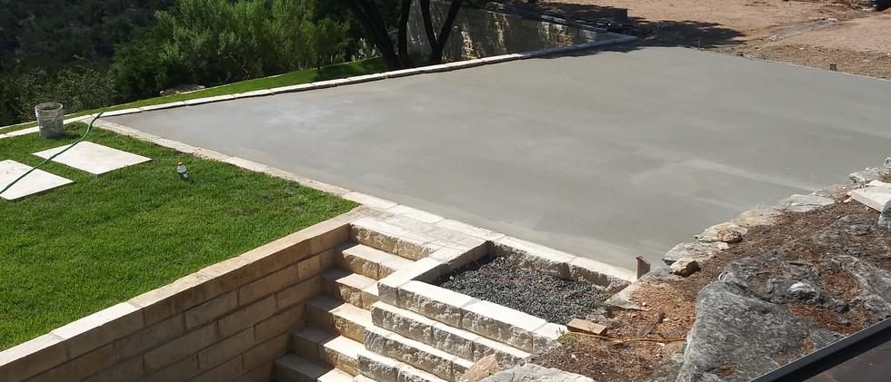 Concrete slab & retaining walls