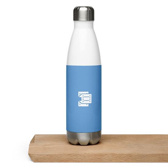Blue Concrete Films Steel Bottle