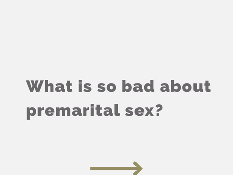 What's so bad about premarital sex?