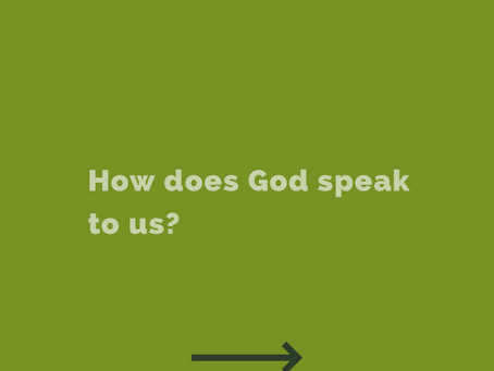 How does God speak to us?