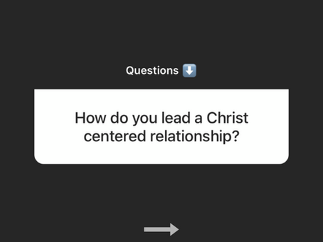 How to lead a Christ - centered dating relationship