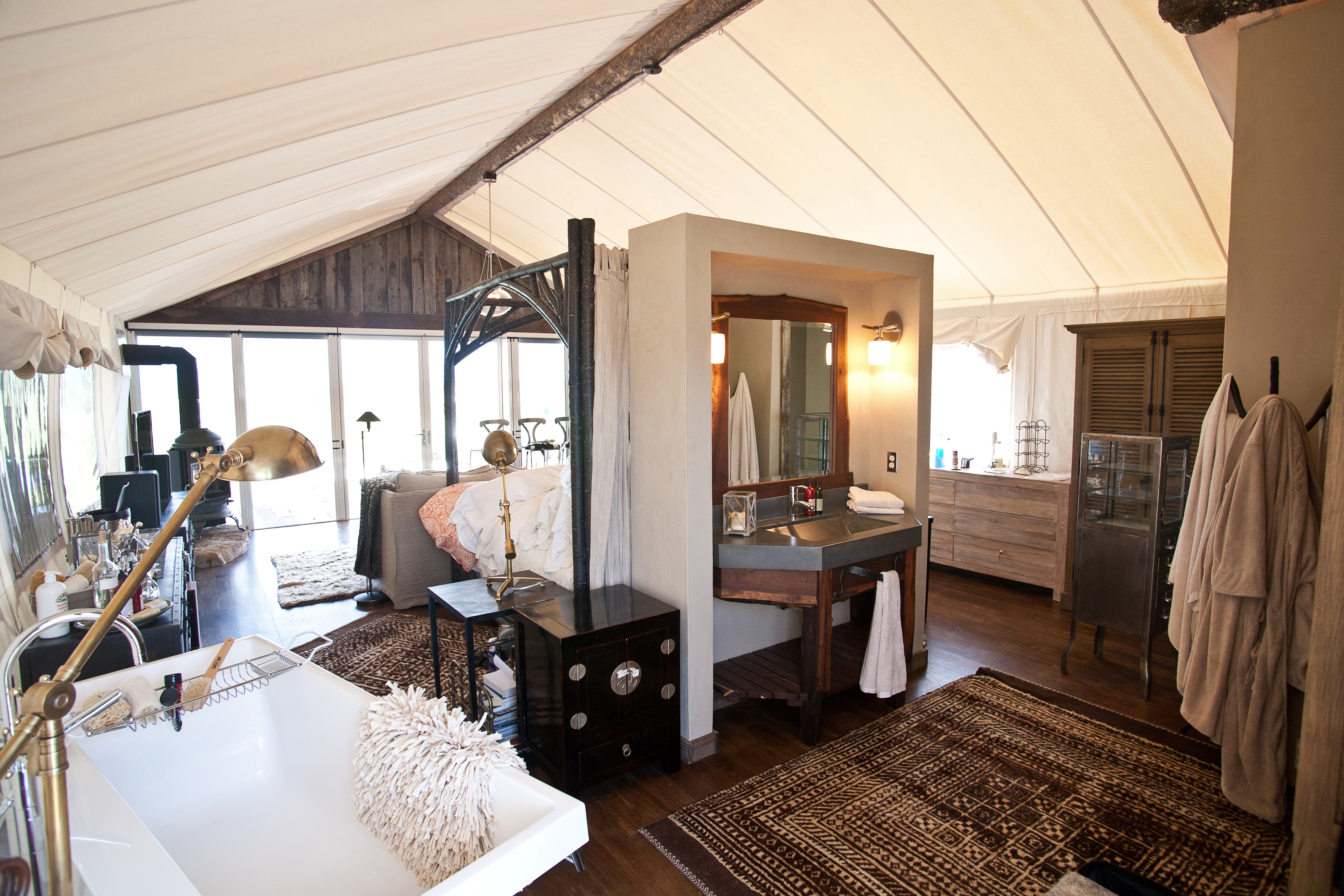 Tent House interior