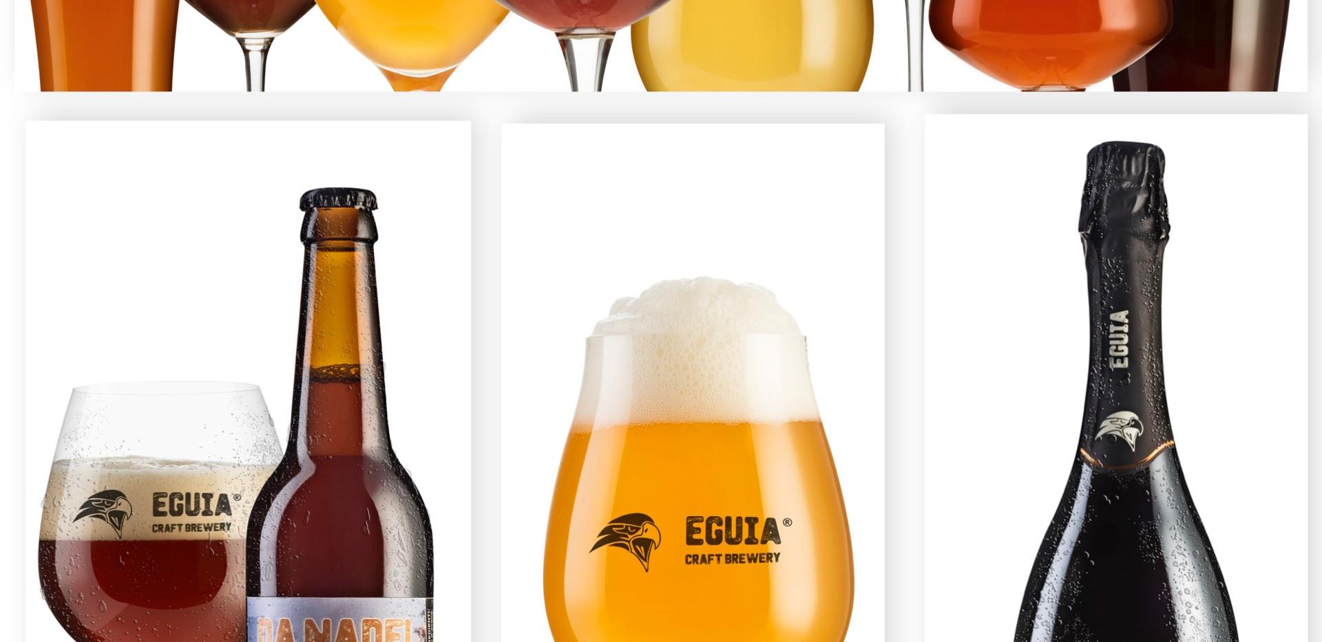 """Werbeaufnahmen für """"Eguia"""" Bier"""