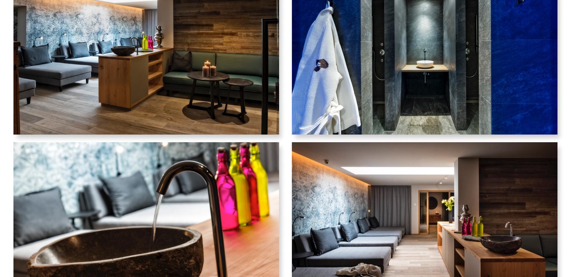 """Aufnahmeserie Wellnessbereich Hotel """"Andreas Hofer"""" in Bruneck"""