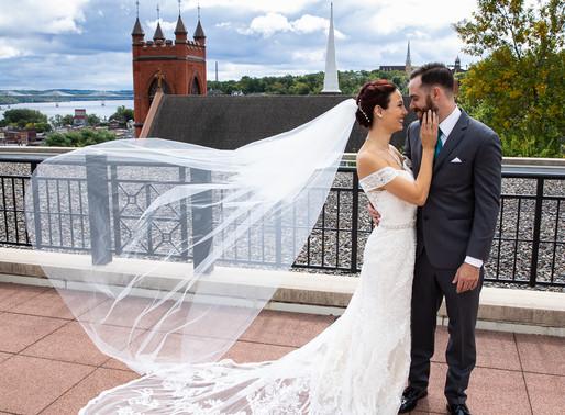 Courtney & Matt's Rooftop Wedding | Stillwater Library