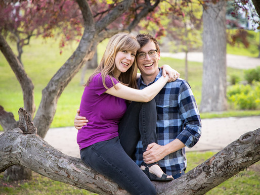 Claire and Steven's Engagement Session~ Irvine Park St. Paul
