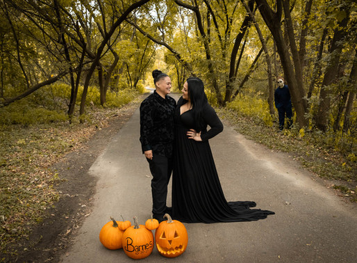 Halloween Engagement Session | Lacey & Julia