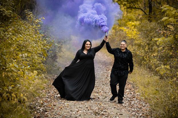 Halloween Engagement Smokebomb
