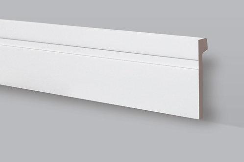 Rodapés de poliestireno 11 cm, barra de 2,44 m