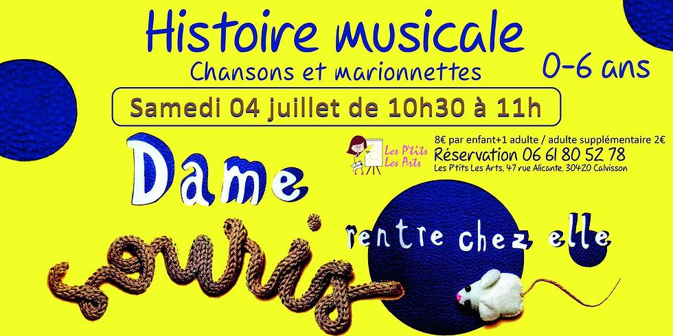 """Histoire musicale """"Dame Souris rentre chez elle"""""""
