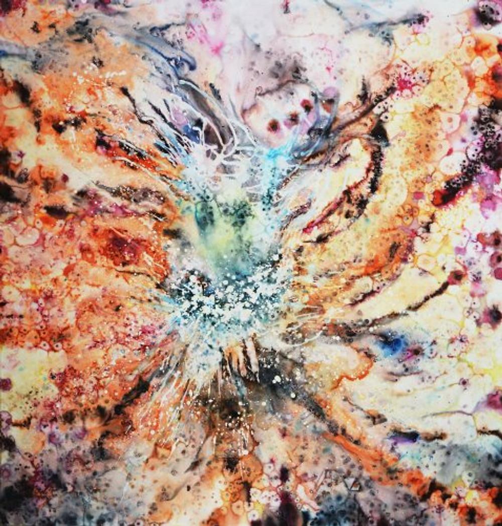 Acrylic ink on canvas 120X140 εκ Ακρυλικό μελἀνη σε μουσαμά 2016 (11)