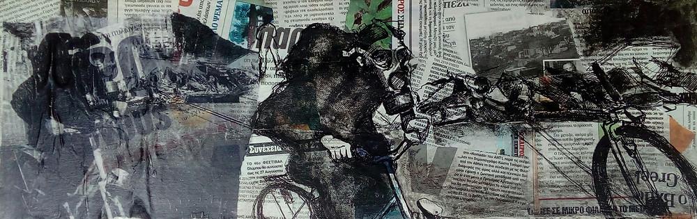 ''No title'' 6, 60x20, μικτή τεχνική, 2018