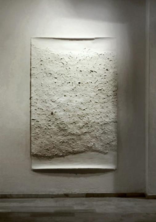 -λευκή σελίδα- χαρτί -white page- paper. 150x120 cm 2010