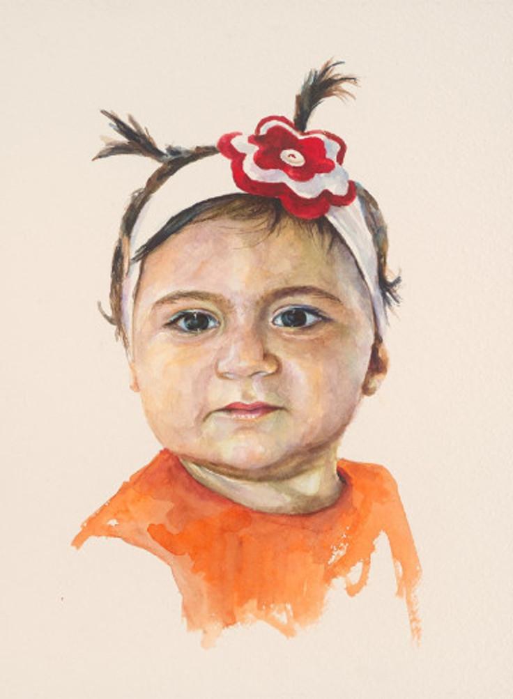 πορτρέτο,ακουαρέλα σε χαρτί,28Χ38 cm.,2017_5