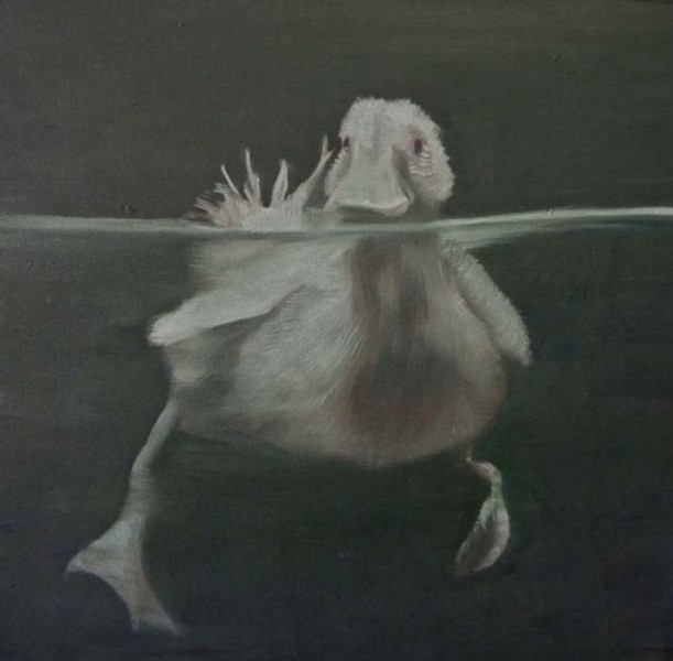 Vasilis Zografos (A puff of air is an event) Untitled 2010, 40x40cm, oil on canvas