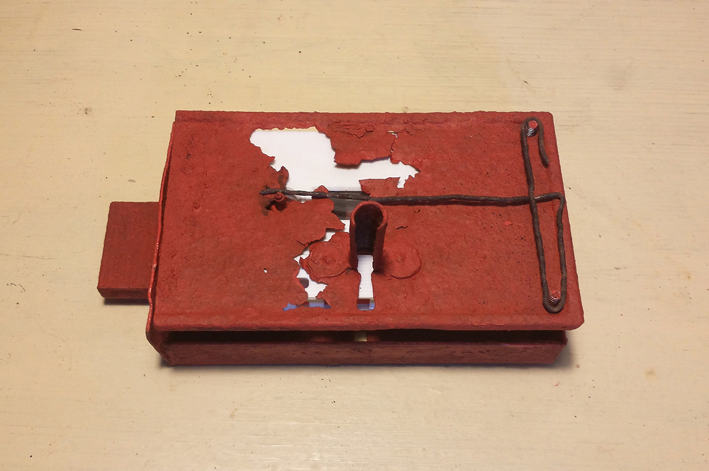 06 karl & rene - mai 12 asaotpu cassette (micro sculpturing on found object, paint)