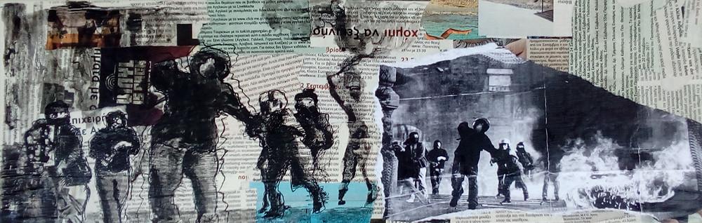 ''No title'' 11, 60x20, μικτή τεχνική, 2018