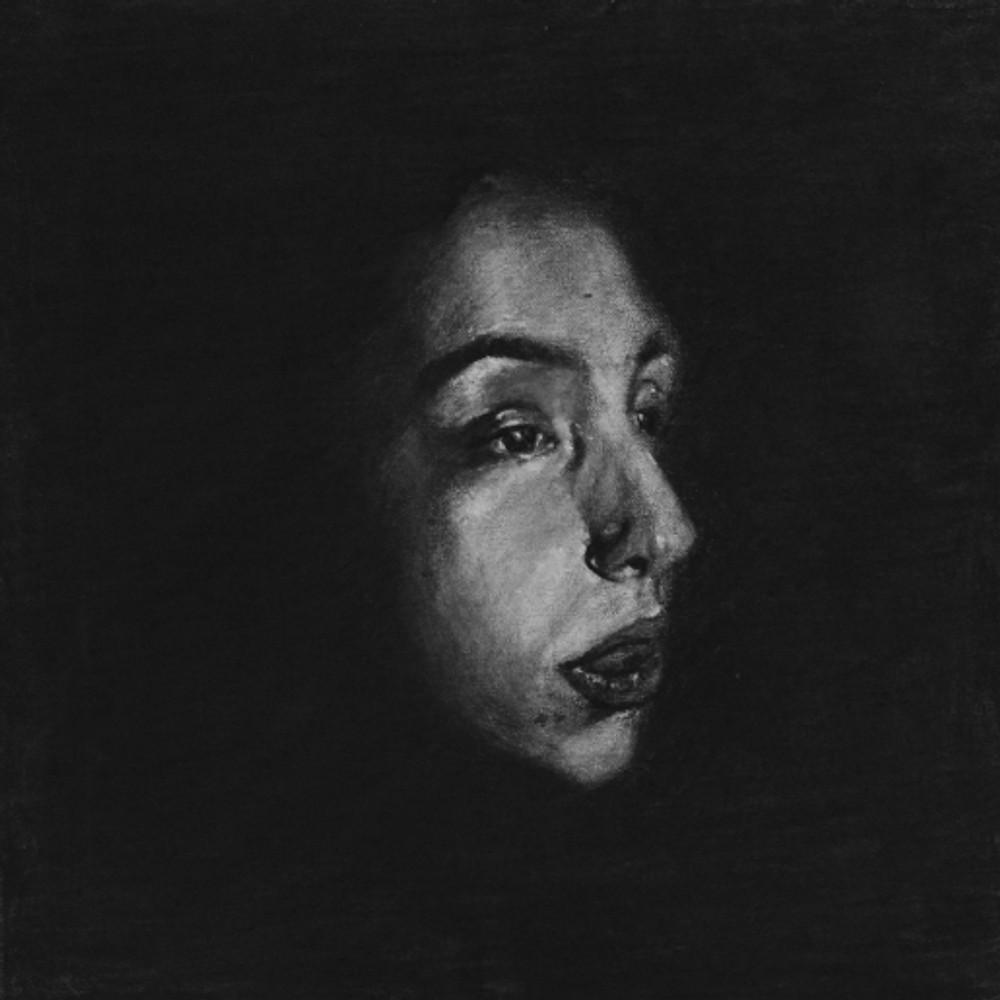 Πορτρέτο,40x40εκ,κάρβουνο σε καμβά,2015 (3)