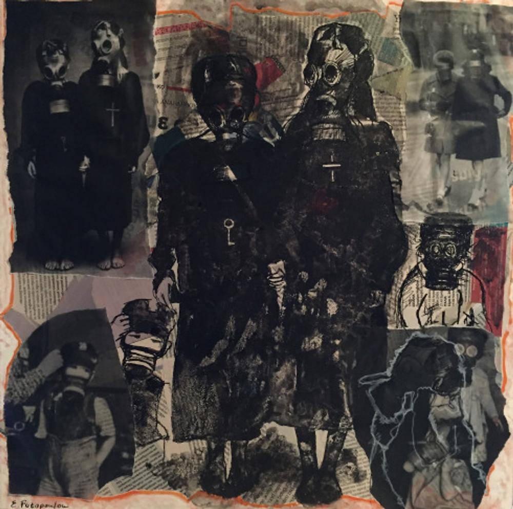''No title'' 3, 50x50, μικτή τεχνική, 2017