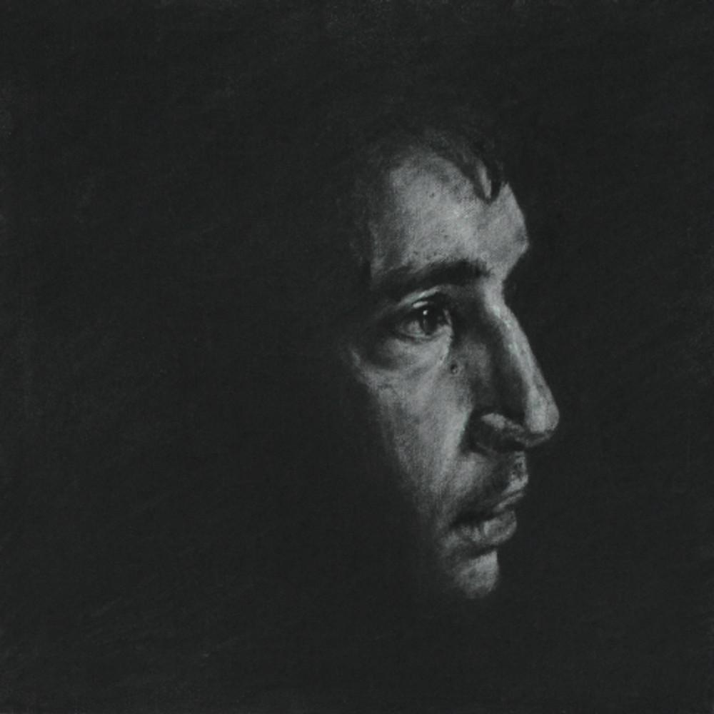 Πορτρέτο,40x40εκ,κάρβουνο σε καμβά,2015