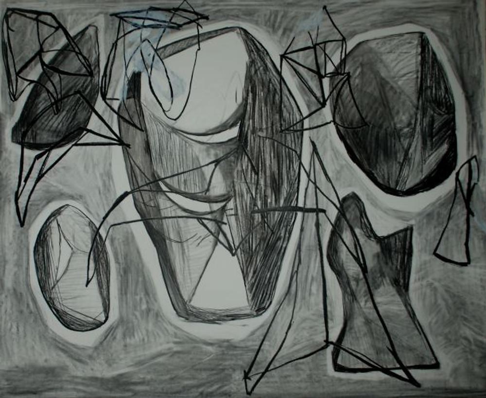 1. untitled, 140 cm x 160cm, charcoal on paper, 2019 - Αντιγραφή