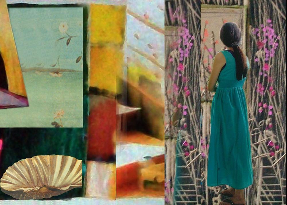 το αναπάντεχο της τέχνης,Μικτή Τεχνική,100χ70 cm, 2015