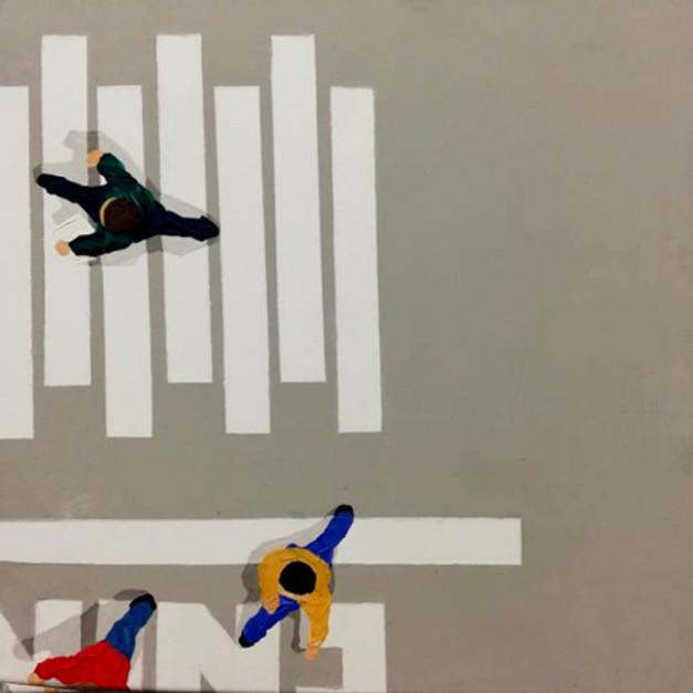 entry, 40x40cm, acrylics on canvas, 2018