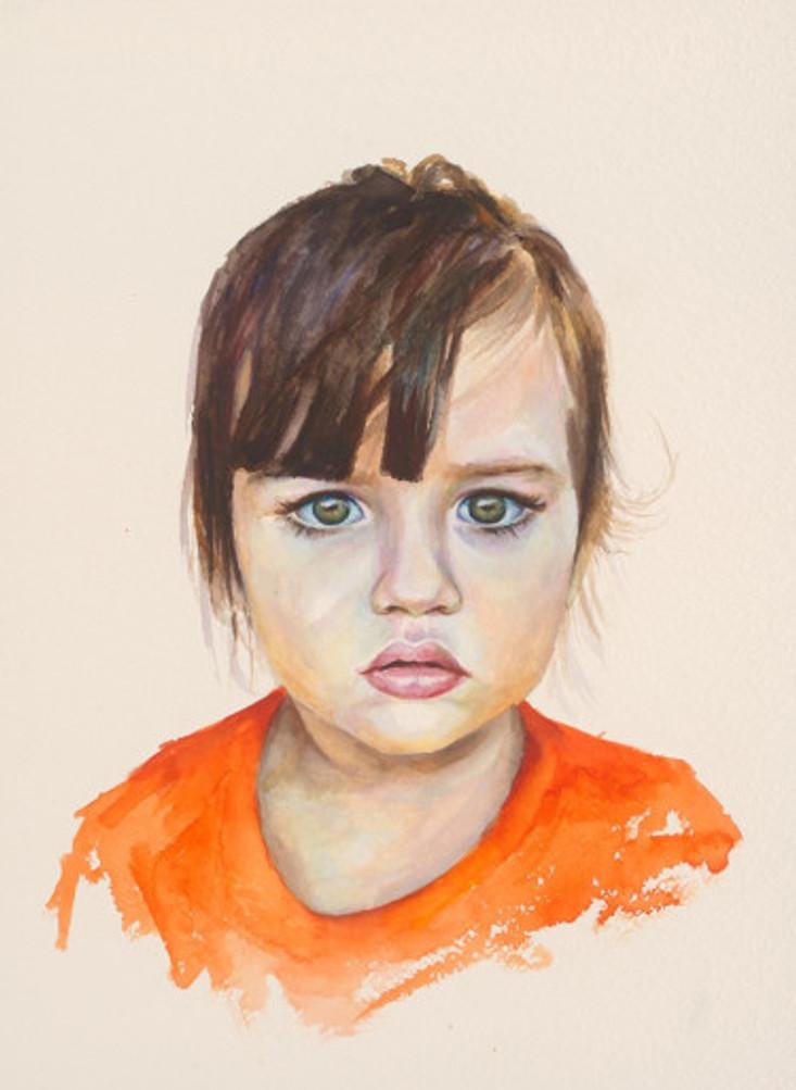 πορτρέτο,ακουαρέλα σε χαρτί,28Χ38 cm.,2017_7