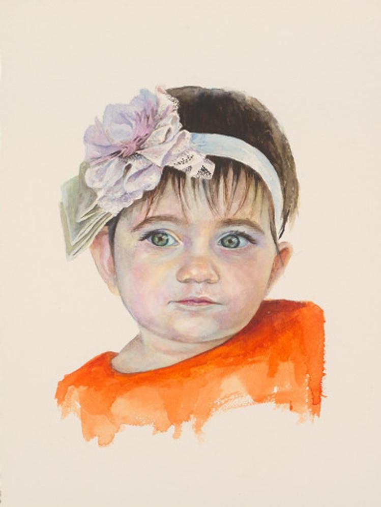 πορτρέτο,ακουαρέλα σε χαρτί,28Χ38 cm.,2017