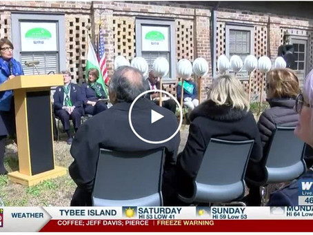 The ground is officially broken; shovels hit the dirt at Juliette Gordon Low Birthplace