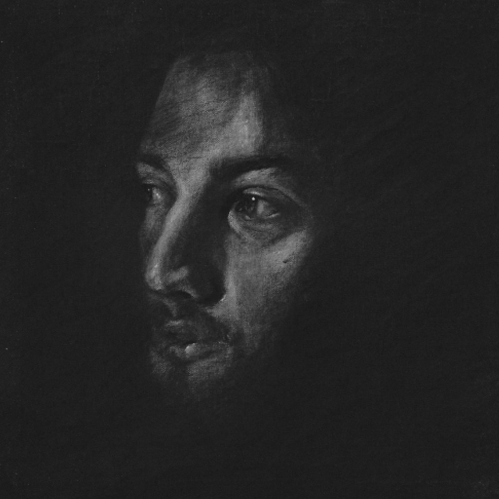 Πορτρέτο,40x40εκ,κάρβουνο σε καμβά,2015 (4)