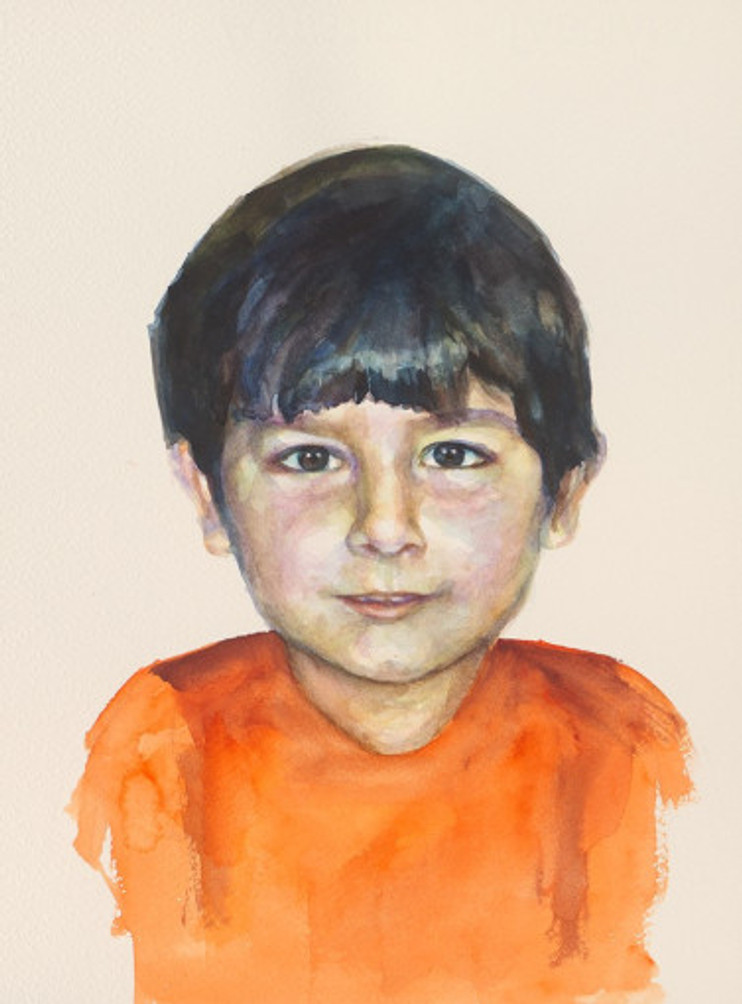 πορτρέτο,ακουαρέλα σε χαρτί,28Χ38 cm.,2017_2