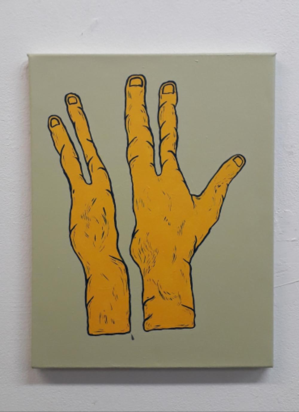 Fingerz, 50x60cm, Ακρυλικά σε καμβά, 2018