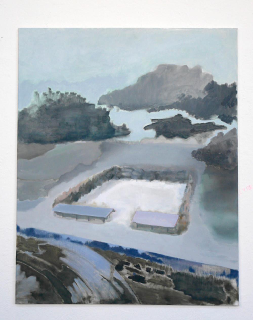 Landscape, 1.2 x 1.5m, Oil on Canvas 2017