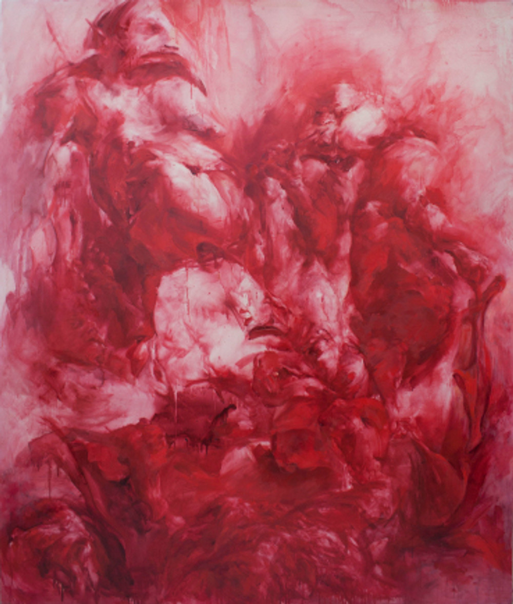 land ho!, 2016, oil on canvas, 200 x 170 cm