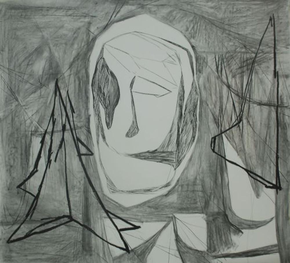 2. untitled, 140 cm x 155cm, charcoal on paper, 2019.jpg - Αντιγραφή
