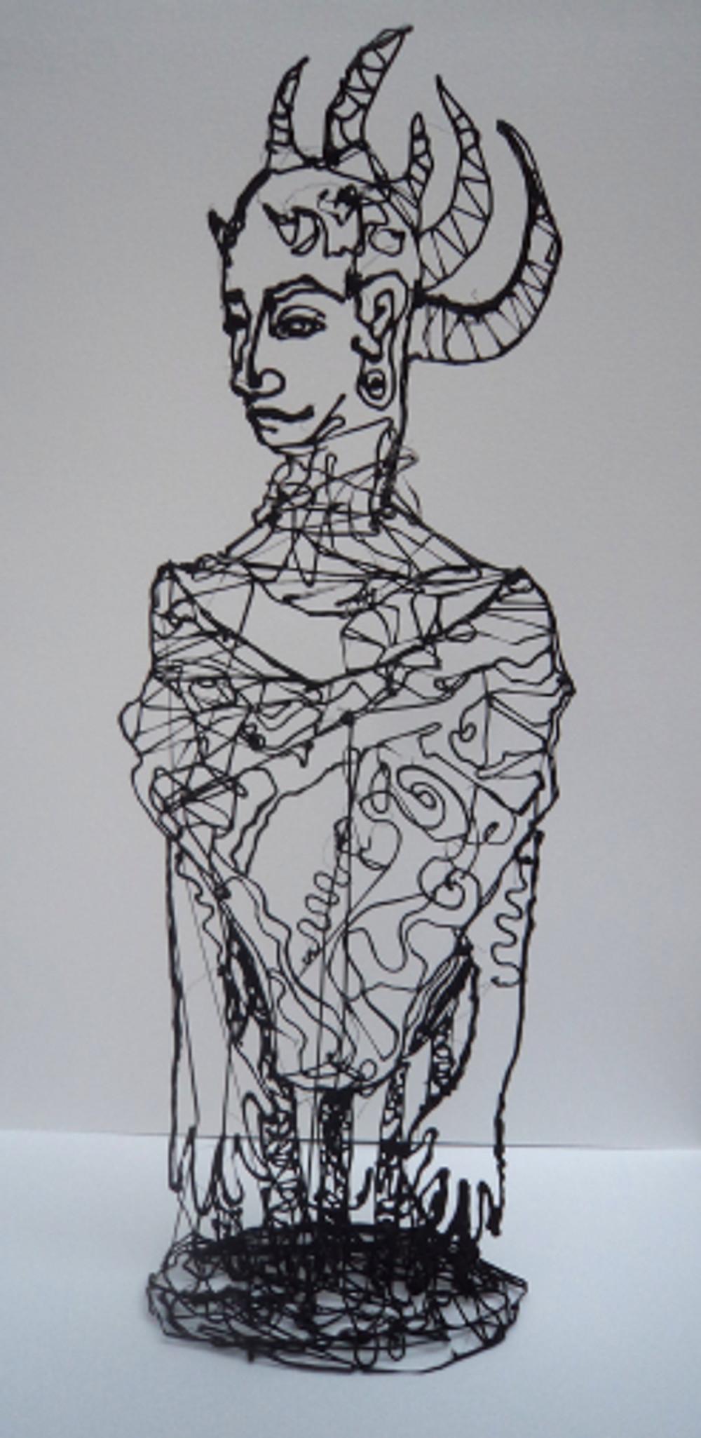 figure no1, 28x12x8 cm pla plastic and color spray, 2018
