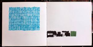 Distant blue, 27x14 cm, Pen, marker on paper, 2016.