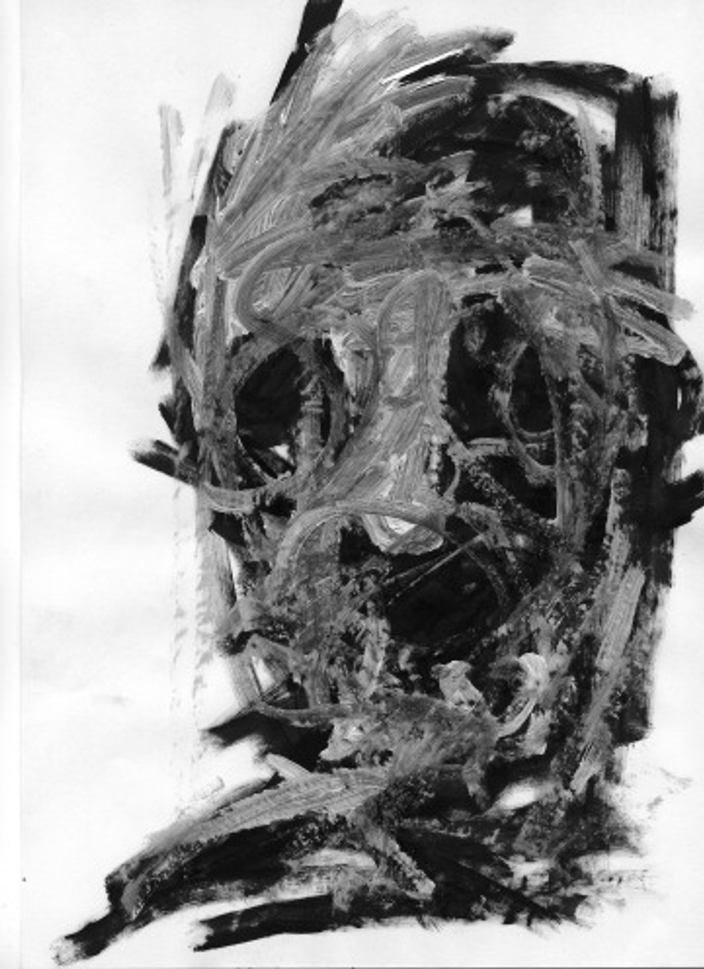 Κεφάλι 21x29,7cm μελάνι και λάδι σε χαρτί 2012