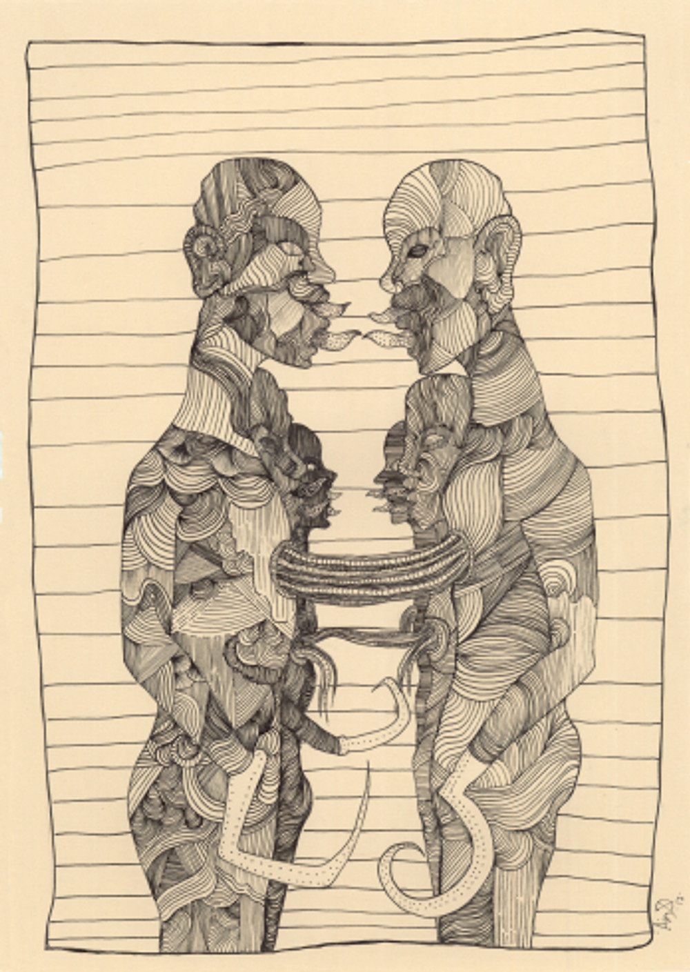 split no2, 42x29.7 cm, inking pen on paper, 2017