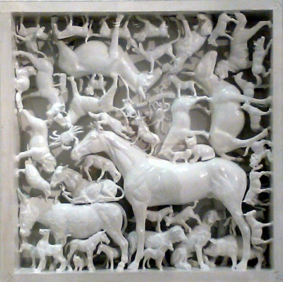 nikos kryonidis wood and plastic 50x50 cm 2010